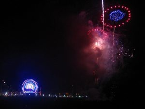 July 4 2016 fireworks over pier