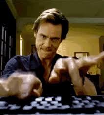 Jim Carrey on keyboard