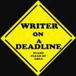 Writer on Deadline black